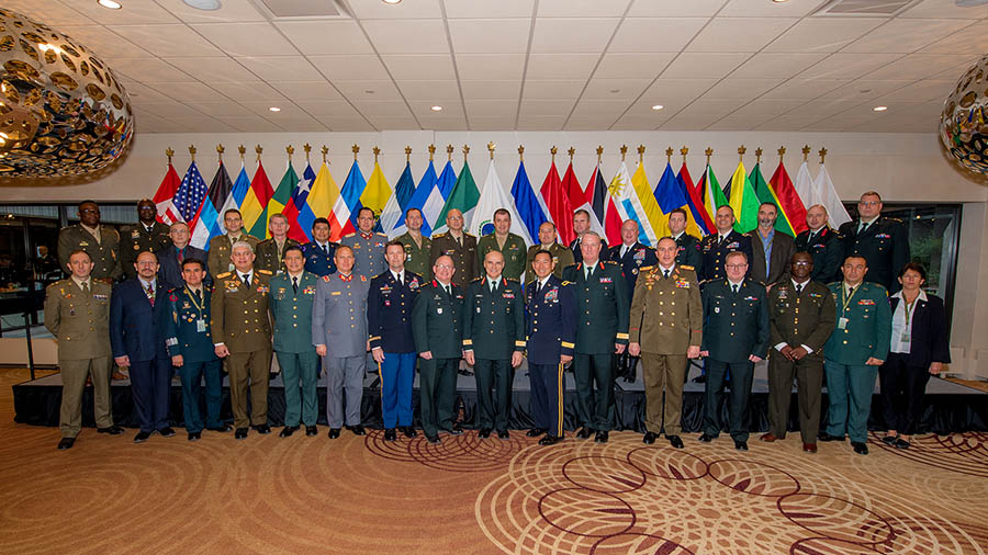 Senior army officers from Western Hemisphere armies attend the Conference of American Armies Specialized Conference in Toronto, Ontario, from February 6 to 10, 2017.