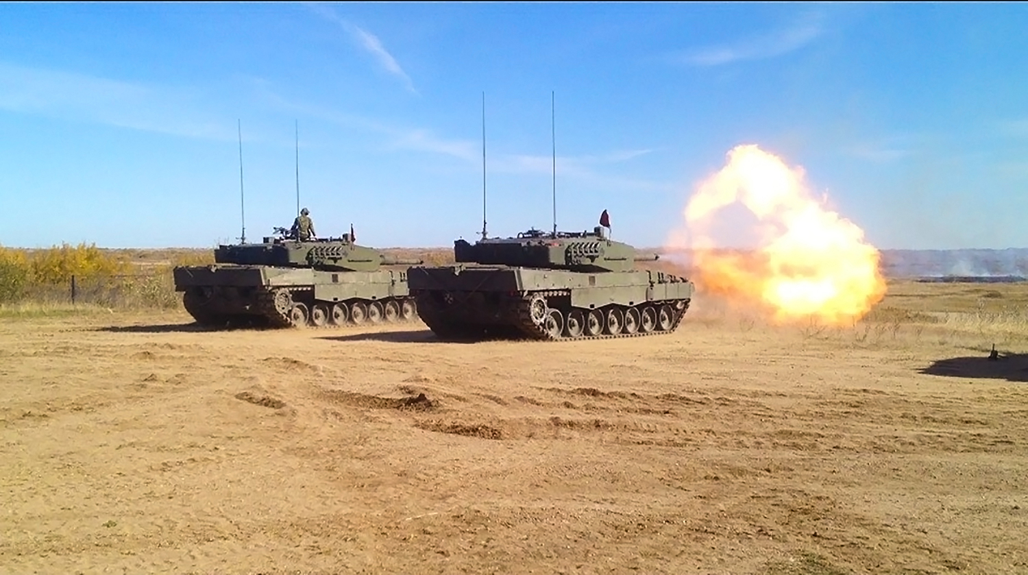 Tanks firing